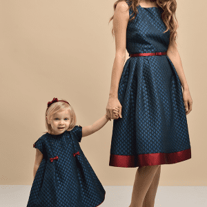 Ada Sorrentino Mother&daughter Dress Grey/Red